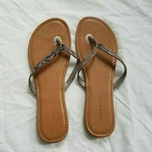 BR Snakeskin Patterned Sandals