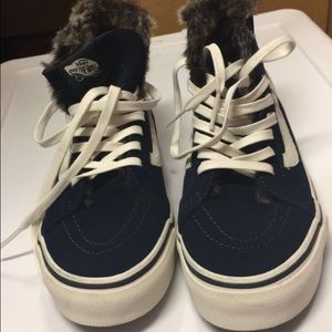 Vans Shoes - Navy vans sk8 hi with faux fur lining f9b48b2e6