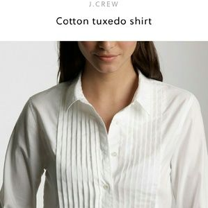 J.Crew  Tops - J.Crew Cotton Tuxedo Shirt
