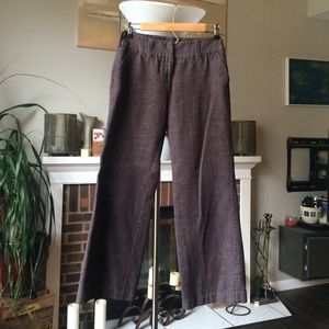 Iz Byer Pants - Brown winter wide leg slacks