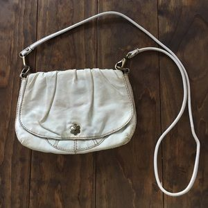 White Leather Lucky Brand Crossbody