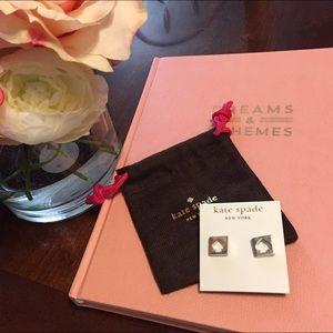 kate spade Jewelry - Kate Spade Silver spade stud earrings