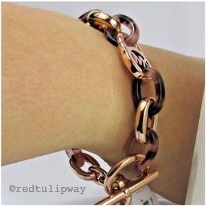 Michael Kors Jewelry - 🌹SOLD🌹Michael Kors Rose Gold Tortoise Bracelet