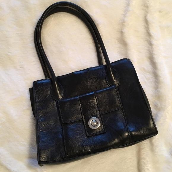 77% off Wilsons Leather Handbags - Wilson's Leather Black Satchel ...
