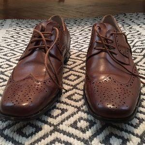 Stacy Adams Shoes - Stacy Adams Nolan - Cognac Oxford Wingtips