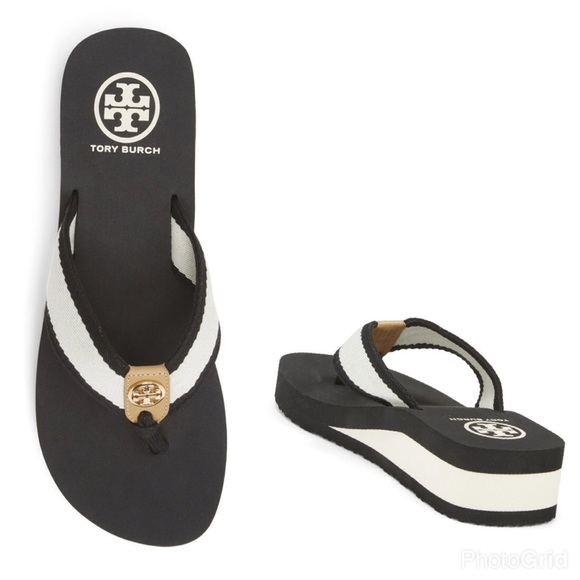 07c62b4a09c5c0 Tory Burch Frankie Wedge Sandals. M 5867ef384127d0411807b151. Other Shoes  you may like. Tory Burch black heeled sandals