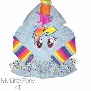My Little Pony Other - My Little Pony Rainbow Dash Tutu Zip Up Sweater 4T