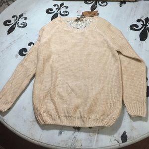 LF Sweaters - LF Katsumi lace back sweater SZ S NWT