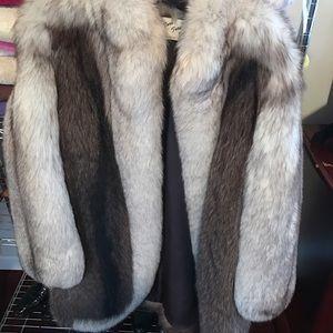 Authentic White Fox Fur MINK Coat