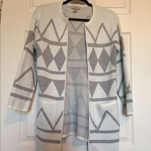 Loft Tribal Print Cardigan Size SP