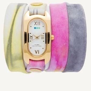 La Mer Jewelry - La Mer Soho Tie Dye Watch in Pastel Watercolor