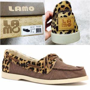 Lamo Shoes - NEW Lamo Cruiser Canvas and Cheetah Print Shoe