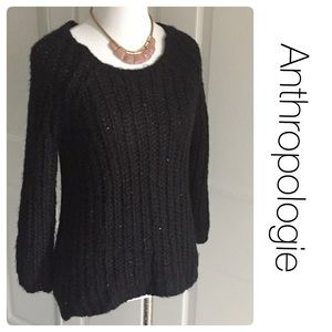 Anthropologie Knitted&Knotted sparkle sweater XS