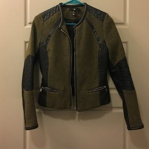 H and M partial leather jacket