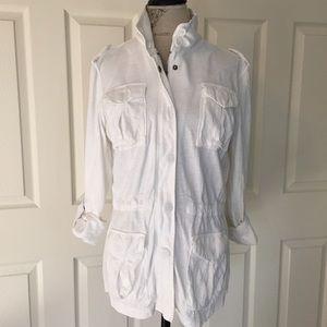 GAP Jackets & Blazers - GAP White Knit Utility Jacket