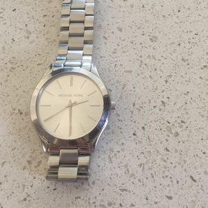 Michael Kors sliver watch with links and box