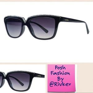 Mario Valentino Accessories - Valentino Black Rectangular Sunglasses
