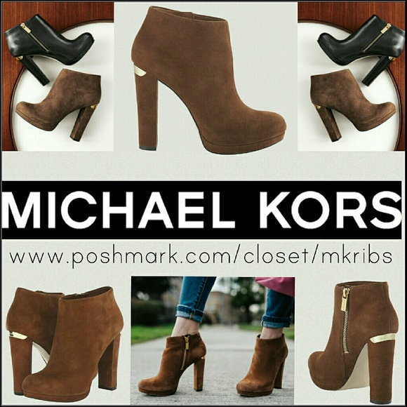19cba0b8b2ab5 Michael Kors Haven suede ankle boot heel 8. M_586801053c6f9f291500f7ed