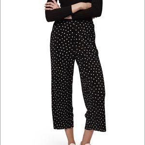 Topshop PETITE Pants - Topshop dot print pleated pants