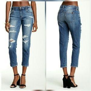 Joe's Jeans Denim - Joe's Jeans Slim Crop Boyfriend in Kency wash