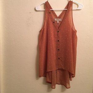 Sheer rust DECREE blouse
