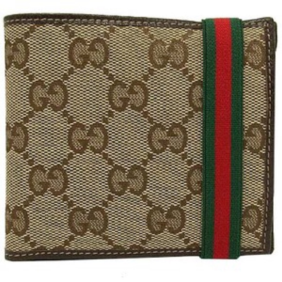 e096fb486985 Gucci Accessories | Gg Bifold Wallet With Elastic Band | Poshmark