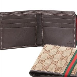 9abc56eb Gucci GG Bi-Fold Wallet with Elastic Band