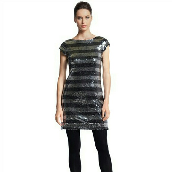 White House Black Market Dresses Sale Sequin Striped Chemise