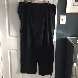 Cool sarong closure wide leg pants.