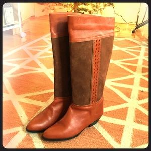 Vintage deadstock never worn brown leather boots