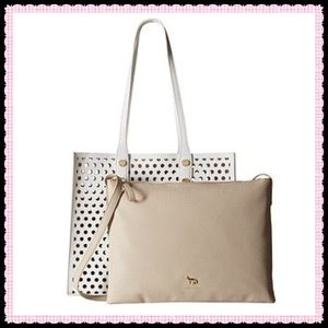 Emma Fox Handbags - NWT🌺Large Perforated Bag in a Bag Leather Tote🌺