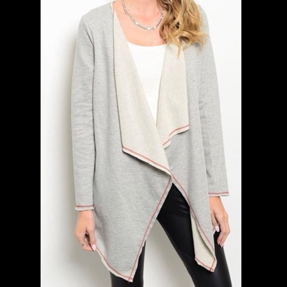 L&M Boutique Sweaters - 1 left GRAY CARDIGAN