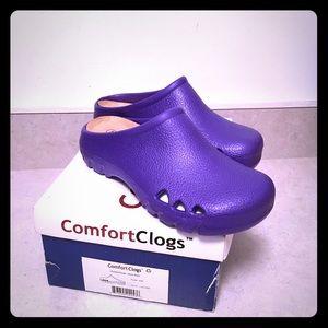 BRAND NEW purple clogs. Cutout ventilation sides