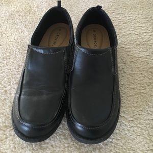 George Other - boys black  dress shoe sz 6