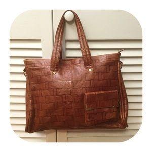 Lodis Handbags - Saddle Colored Leather Lodis Shoulder Bag