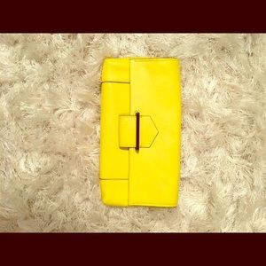 Reed Krakoff Handbags - Gorgeous yellow leather clutch w/silver hardware