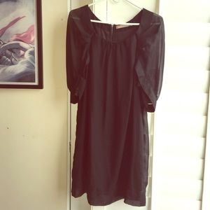 Limited Edition Dresses & Skirts - Black dress lined with sheer 3/4 length sleeves