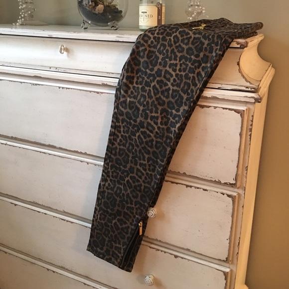 6d956af017f1 MICHAEL Michael Kors Jeans   Michael Kors Leopard Print Skinny ...