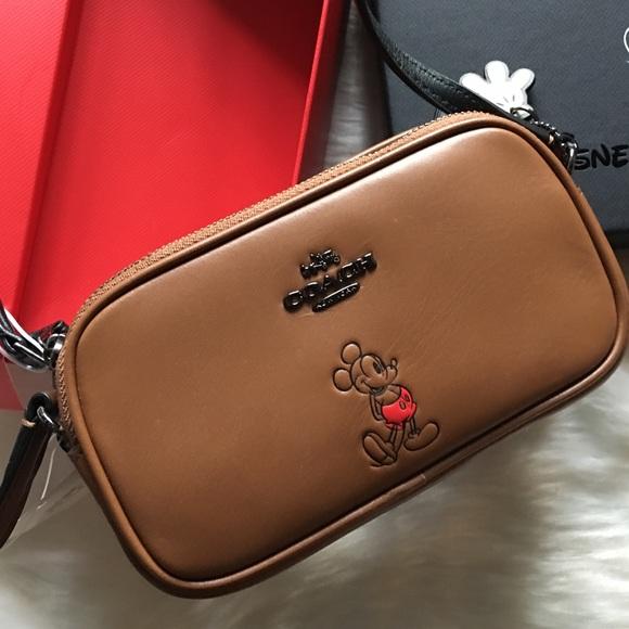 70e62794 Coach Limited Disney Mickey Mouse Crossbody Bag NWT