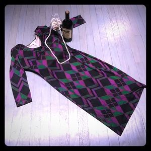 Diane von Furstenberg Dresses & Skirts - DVF Alma 💯 silk 3/4 sleeve faux wrap ruched dress