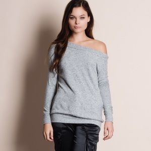 Off Shoulder Soft Fuzzy Sweater Top