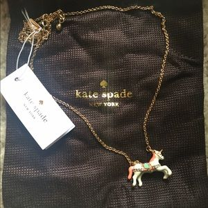 Authentic Kate Spade unicorn mini pendant necklace