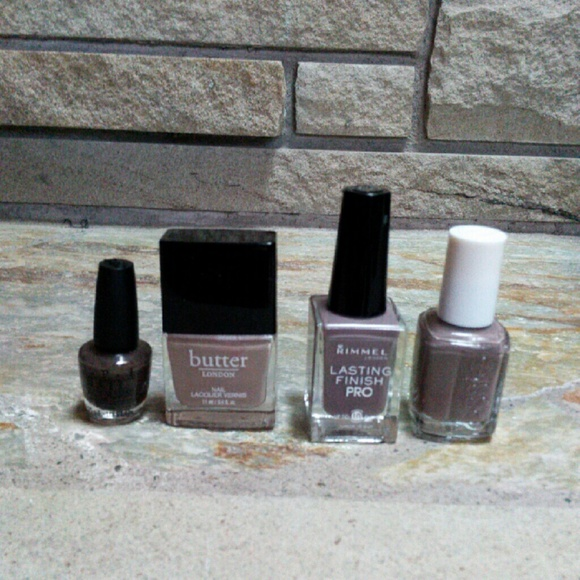 various Makeup | Greige Nail Polish Set Butter London Essie Opi ...