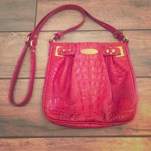 Brahmin hot pink cross body