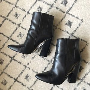 BCBG Shoes - BCBG Black and Gold Booties