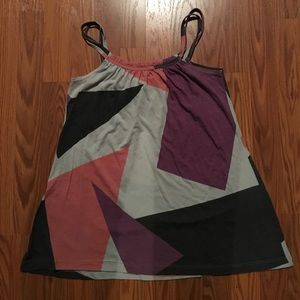 Geometric Double Strapped Tank Top