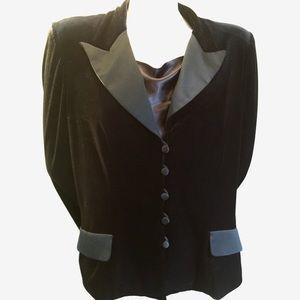 Alex Evenings Jackets & Blazers - ALEX Black Velvet Jacket