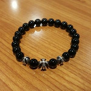 Jewelry - Exquisitely Chrome Hearts style bead bracelet