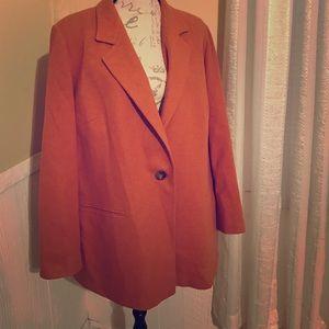 Marina Rinaldi Jackets & Blazers - Marina Ronaldo Virgin Wool Plus Size Coat