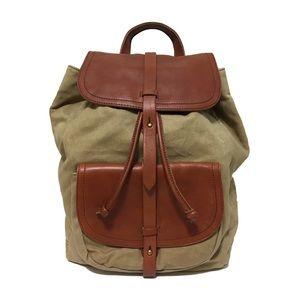 Madewell Handbags - ❤️ Madewell Transport Rucksack Canvas and Leather
